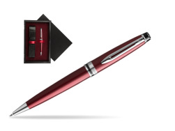 Waterman Ballpoint Pen Expert Dark Red CT  single wooden box  Black Single Maroon