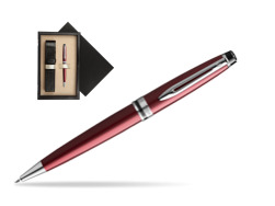 Waterman Ballpoint Pen Expert Dark Red CT  single wooden box  Wenge Single Ecru
