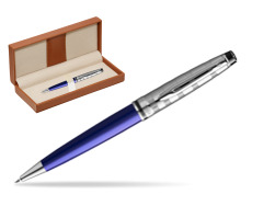 Waterman Ballpoint Pen Expert DeLuxe Navy Blue CT  in classic box brown