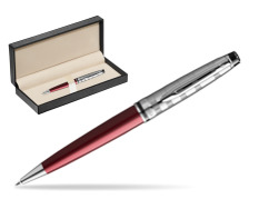 Waterman Ballpoint Expert DeLuxe Dark Red CT  in classic box  pure black