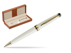 Waterman Ballpoint Pen Expert Ivory GT  in classic box brown