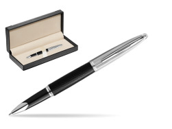 Waterman Rollerball Pen Carene Leather Black CT  in classic box  black