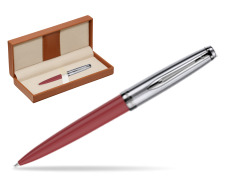 Waterman Ballpoint Pen Embleme Red CT  in classic box brown