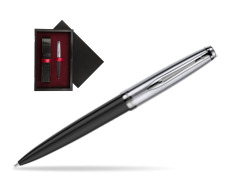 Waterman Ballpoint Pen Embleme Black CT  single wooden box  Black Single Maroon