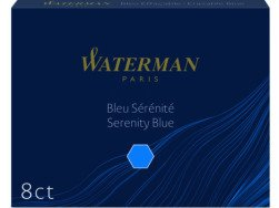 Waterman international ink cartridges 6 pcs. Blue.