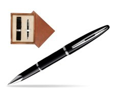 Waterman Carène Black Sea ST Rollerball pen in single wooden box  Mahogany Single Ecru