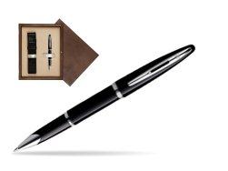 Waterman Carène Black Sea ST Rollerball pen in single wooden box  Wenge Single Ecru