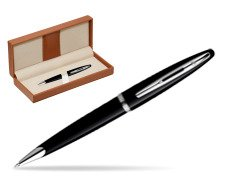 Waterman Carène Black Sea ST Ballpoint pen  in classic box brown