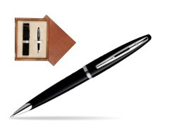 Waterman Carène Black Sea ST Ballpoint pen in single wooden box  Mahogany Single Ecru