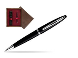 Waterman Carène Black Sea ST Ballpoint pen in single wooden box  Wenge Single Maroon