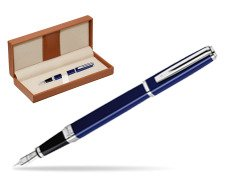 Waterman Exception Slim Blue CT Fountain pen  in classic box brown