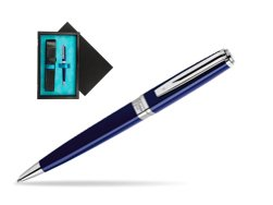 Waterman  Exception Slim Blue CT Ballpoint pen   single wooden box  Black Single Turquoise