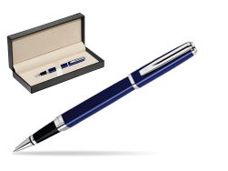 Waterman Exception Slim Blue CT Rollerball pen  in classic box  pure black