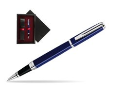 Waterman Exception Slim Blue CT Rollerball pen  single wooden box  Black Single Maroon
