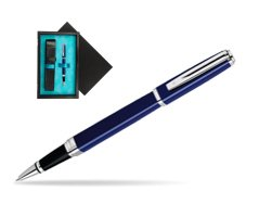 Waterman Exception Slim Blue CT Rollerball pen  single wooden box  Black Single Turquoise
