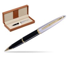 Waterman Carène Deluxe Black GT Fountain pen  in classic box brown
