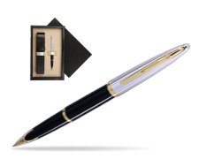 Waterman Carène Deluxe Black GT Fountain pen  single wooden box  Wenge Single Ecru