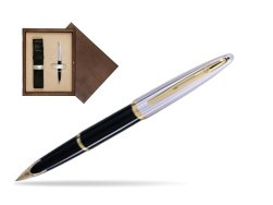 Waterman Carène Deluxe Black GT Fountain pen in single wooden box  Wenge Single Ecru