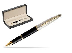 Waterman Carène Deluxe Black GT Rollerball pen  in classic box  pure black