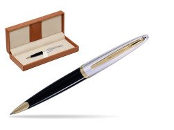 Waterman Carène Deluxe Black GT Ballpoint pen  in classic box brown