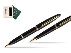 "Waterman Carène Black Sea GT Fountain pen + Waterman Carène Black Sea GT Ballpoint Pen in Gift Box ""Science"""