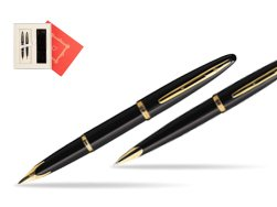 "Waterman Carène Black Sea GT Fountain pen + Waterman Carène Black Sea GT Ballpoint Pen in Gift Box ""Red Love"""