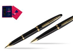 Waterman Carène Black Sea GT Fountain pen + Waterman Carène Black Sea GT Ballpoint Pen in Love Box