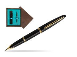 Waterman Carène Black Sea GT Fountain pen in single wooden box  Wenge Single Turquoise