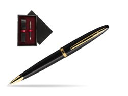 Waterman Carène Black Sea GT Ballpoint pen  single wooden box  Black Single Maroon