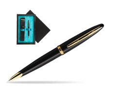 Waterman Carène Black Sea GT Ballpoint pen  single wooden box  Black Single Turquoise