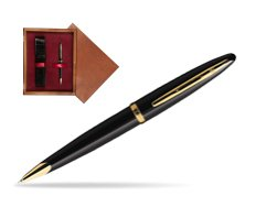 Waterman Carène Black Sea GT Ballpoint pen in single wooden box Mahogany Single Maroon
