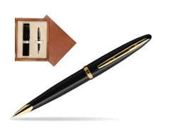 Waterman Carène Black Sea GT Ballpoint pen in single wooden box  Mahogany Single Ecru