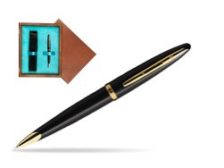 Waterman Carène Black Sea GT Ballpoint pen in single wooden box  Mahogany Single Turquoise