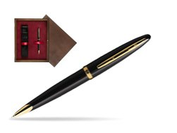 Waterman Carène Black Sea GT Ballpoint pen in single wooden box  Wenge Single Maroon