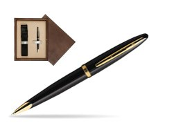 Waterman Carène Black Sea GT Ballpoint pen in single wooden box  Wenge Single Ecru