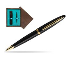 Waterman Carène Black Sea GT Ballpoint pen in single wooden box  Wenge Single Turquoise