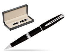 Waterman Charleston Black CT RollerBall Pen  in classic box  black