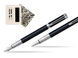 Waterman Perspective Black CT Fountain pen + Waterman Perspective Black CT Ballpoint Pen in Standard Gift Box