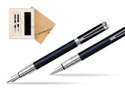 Waterman Perspective Black CT Fountain pen + Waterman Perspective Black CT Ballpoint Pen in Standard 2 Gift Box