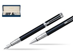 Waterman Perspective Black CT Fountain pen + Waterman Perspective Black CT Ballpoint Pen