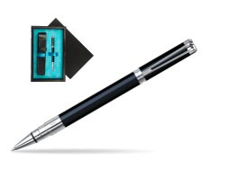 Waterman Perspective Black CT Rollerball pen  single wooden box  Black Single Turquoise