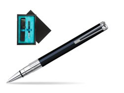 Waterman Perspective Black CT Ballpoint pen  single wooden box  Black Single Turquoise