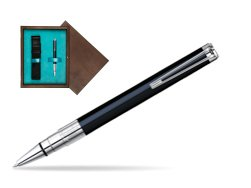 Waterman Perspective Black CT Ballpoint pen in single wooden box  Wenge Single Turquoise