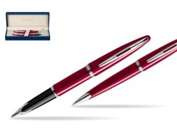 Waterman Carène Glossy Red CT Fountain pen + Waterman Carène Glossy Red CT Ballpoint Pen