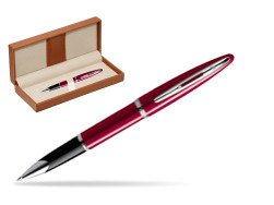 Waterman Carène Glossy Red CT Rollerball pen  in classic box brown