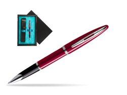 Waterman Carène Glossy Red CT Rollerball pen  single wooden box  Black Single Turquoise