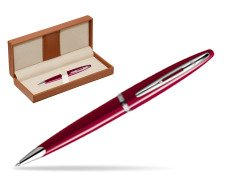 Waterman Carène Glossy Red CT Ballpoint pen  in classic box brown