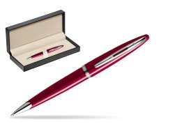 Waterman Carène Glossy Red CT Ballpoint pen  in classic box  pure black