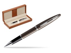 Waterman Carène Frosty Brown CT Rollerball pen  in classic box brown