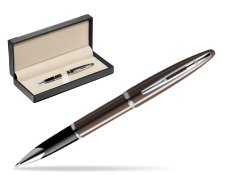 Waterman Carène Frosty Brown CT Rollerball pen  in classic box  black